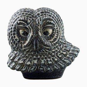 Owl in Glazed Stoneware by Gunnar Nylund for Rörstrand, 1950s