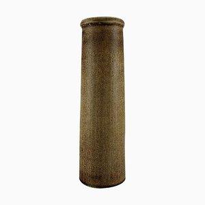 Große Zylindrische Vase aus Glasierter Keramik von Carl Harry Stålhane für Rörstrand