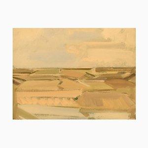 Landscape Oil on Canvas by Frans Vester Pedersen