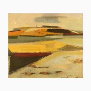 Vendsyssel Oil on Canvas by Erik Bonow, 1963