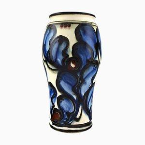 Glazed Stoneware & Ceramic Danico Vase in Modern Design, 1930s