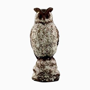 Owl in Crackled Glazed Stoneware by Michael Andersen, 1950s
