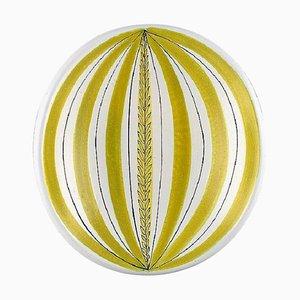 Bowl in Glazed Faience by Stig Lindberg for Gustavsberg, 1950s