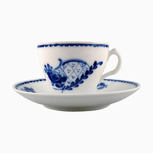 Rokoko Kaffeetasse mit Untertasse von Royal Copenhagen, 20th Century, 22er Set