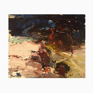 Beach Vegetation Oil on Canvas by Nils Johansson, 1963