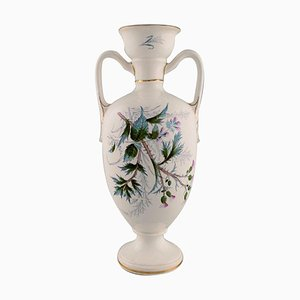 Vase in Faience with Floral Motifs from Rörstrand, 1920s
