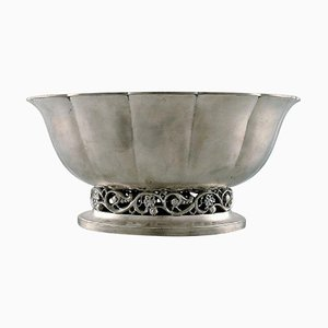Large Impressive Jardinière or Flower Pot in Pewter by Just Andersen, 1940s