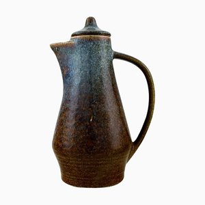 Jug with Lid into Glazed Stoneware by Carl Harry Stålhane for Rörstrand, 1950s