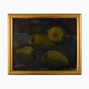 Modernist Still Life with Pears Oil on Canvas, Mid-20th Century