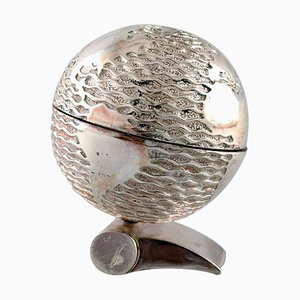 Globe on Base Skulptur von Claude Picasso für Christofle, 1996