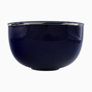 Bowl of Porcelain Decorated with Blue Glaze by Alev Siesbye for Royal Copenhagen, 20th Century