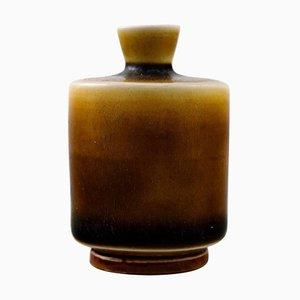Swedish Modern Handmade Pottery Vase by Berndt Friberg, 1963