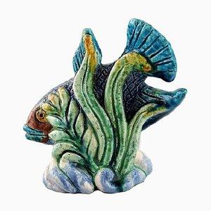 Chamotte Steingut Fischfigur von Gunnar Nylund für Rörstand