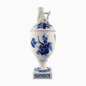 Blue Flower Lidded Trophy Number 10/1754 from Royal Copenhagen, 1960s