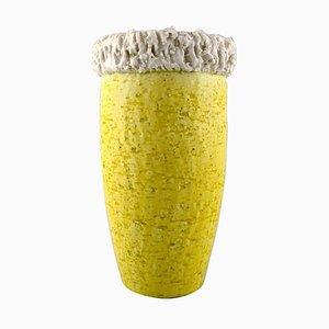 Chamotte Vase von Gunnar Nylund für Rörstrand