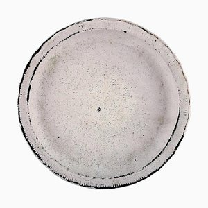 Danish Glazed Stoneware Low Bowl by Svend Hammershøi for Kähler, 1940s