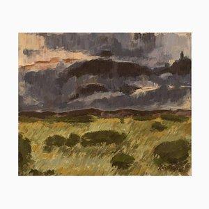 Swedish Landscape by Anders Wallin, 1972