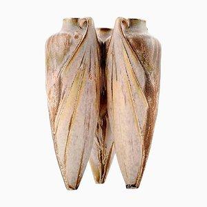 French Art Deco Amphora Style Pottery Vase, 1930s