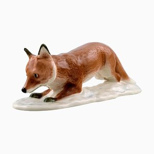 Fox Figure by Harald Wiberg for Royal Copenhagen, 20th Century
