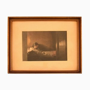 Lille Rekonvalescent Mezzotint in Color by Peter Ilsted