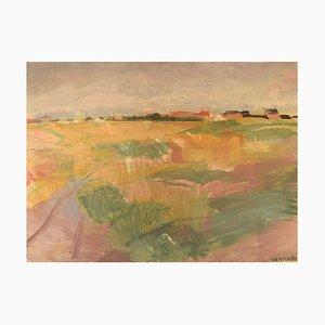 Modernist Landscape Oil on Canvas by Marius Hammann, 1920s