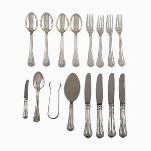 Silver Lunch Service Set from Cohr, 20th Century, Set of 16