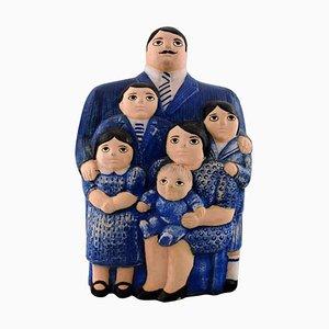 The Family Glazed Ceramic Figure by Lisa Larson for Gustavsberg, 20th Century