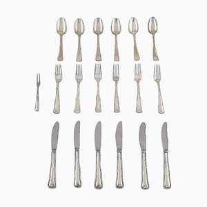 Danish Silver Cutlery from Cohr, 20th Century, Set of 19