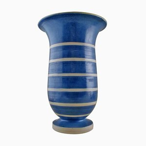 Large Glazed Stoneware Vase from Kähler, 20th Century