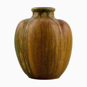 Vase in Glazed Ceramic by Arne Bang, 1930s