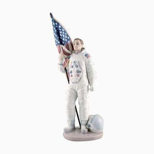 Large Neil Armstrong Figure in Glazed Porcelain from Lladro, 1990s