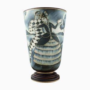 Art Deco Handcrafted Flambé Vase by Gunnar Nylund for Rörstrand, 1936