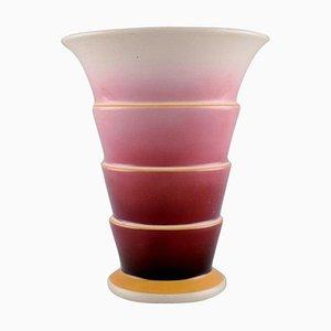 Art Deco Faience Vase in Lila und Pink von Villeroy & Boch, 1930er