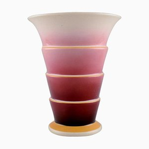 Art Deco Faience Vase in Purple and Pink Shades from Villeroy & Boch, 1930s