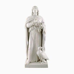 Große antike Figur Johannes des Täufers nach Thorvaldsen von Bing & Grondahl