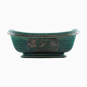 Art Deco Argenta Flower Bowl by Wilhelm Kage for Gustavsberg, 1930s