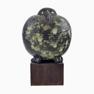 Oiseau Noir en Céramique Vernie par Lisa Larson pour Gustavsberg, 20ème Siècle