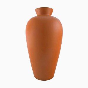 Large Orange Glaze Ceramic Vase from Upsala-Ekeby, 1960s