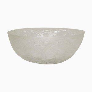 Französische Schale aus Kunstglas von Lalique, 20. Jahrhundert