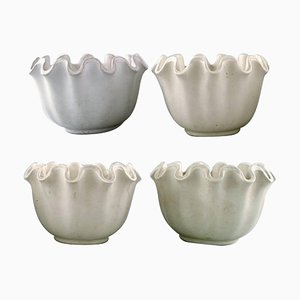 Carrara Ceramic Vases by Wilhelm Kage for Gustavsberg, 20th Century, Set of 4