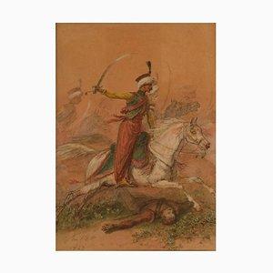 Arabian Horsemen by Auguste Denis Raffet, 1847