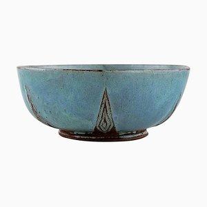 Schale aus glasierter Keramik von Lisbeth Munch-Petersen, 1960er