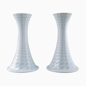 Porcelain Candleholders by Axel Salto for Royal Copenhagen, 20th Century, Set of 2