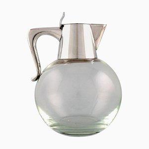 Moderner Krug aus Kunstglas & Sterling von Ole Hagen für Michelsen, 1968