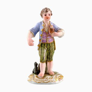 Boy with Falcon Miniature Figure after Johann Joachim Kändler from Meissen