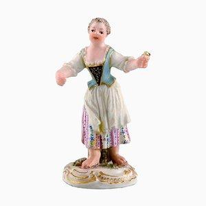 Girl with Flowers Miniature Figure after Johann Joachim Kändler from Meissen