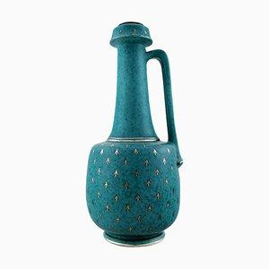 Große Art Deco Argenta Vase oder Flasche von Wilhelm Kage für Gustavsberg, 1940er