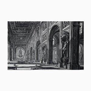 Showcase Interior of the Basilica of St. John Lateran Engraving by Piranesi