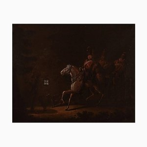 19th Century Riders from Napoleon 1st Army Oil on Canvas, 19th Century