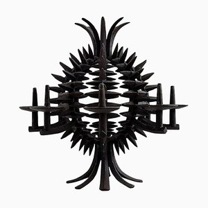 Circular Pineapple Shaped Candleholder of Iron by Jens Harald Quistgaard